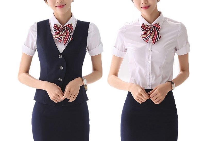 Áo đồng phục nhà hàng may sẵn đẹp và bền