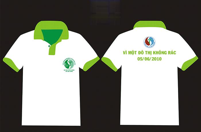 In logo áo đồng phục phía trước ngực và lưng áo