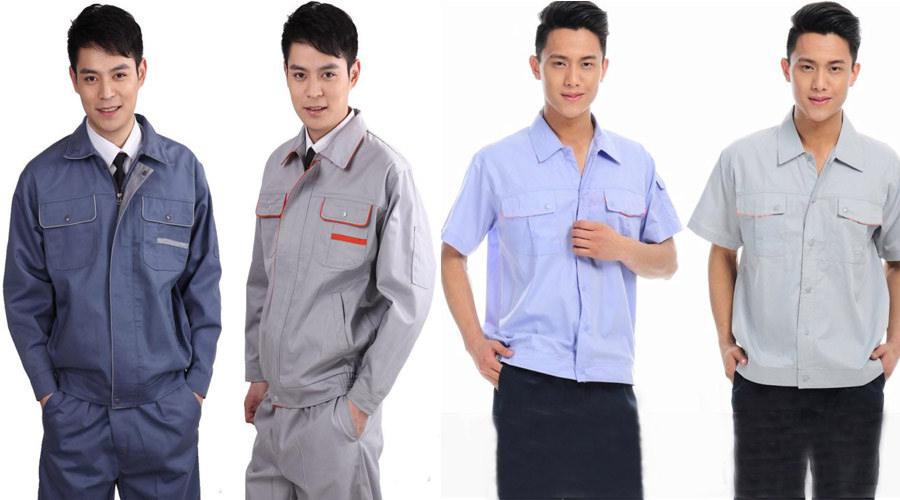 Những mẫu đồng phục công nhân may sẵn đa dạng, phù hợp cho cả nam lẫn nữ.