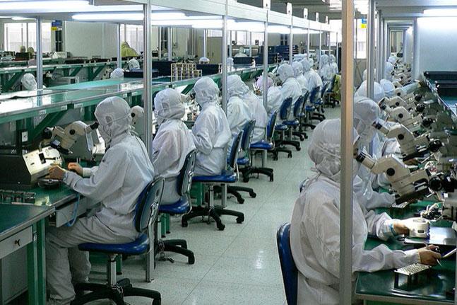 Đồng phục của công nhân sản xuất linh kiện